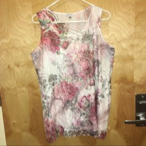 Avenue Floral lace overlay tank top